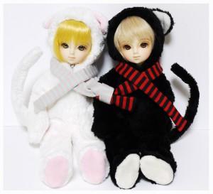 幼SD千夏×2の白ねこ黒ねこ