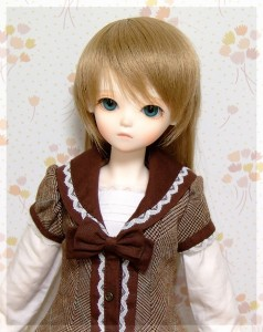MINORU WORLD Limited Tiny Fairy *Olive+HGグラスアイ 14mm グリーングレイ
